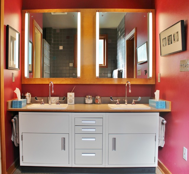 Ballard Artist's Live/Work Space eclectic-bathroom