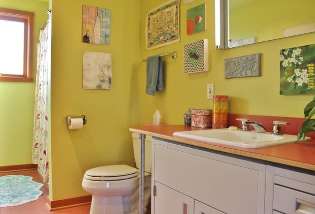 Ballard Artist's Live/Work Space eclectic-bathroom