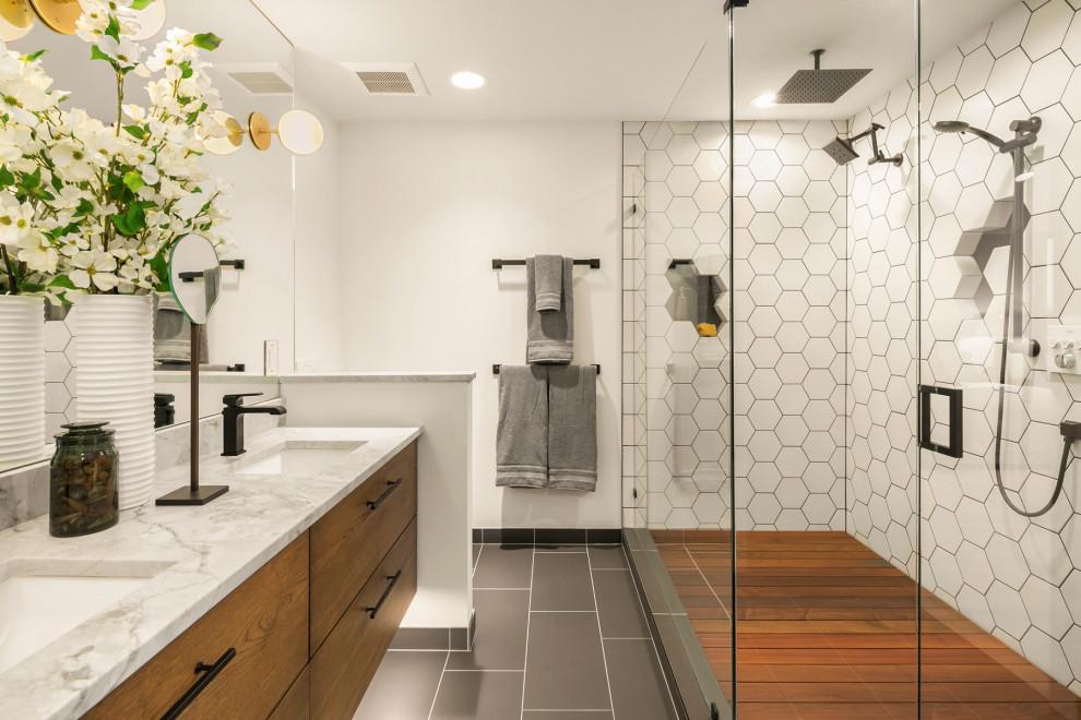 Ballard Stack House - Contemporary - Bathroom - Seattle ...