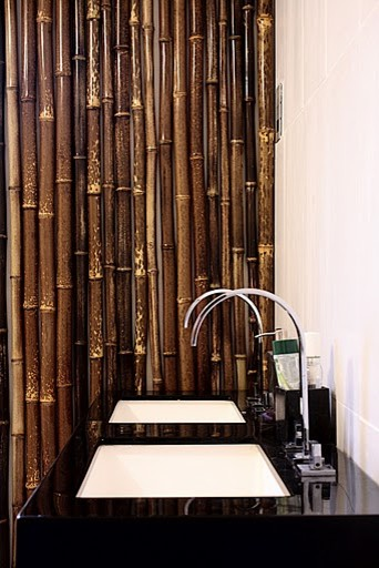 Bamboo bathroom asian bathroom for Bamboo bathroom design