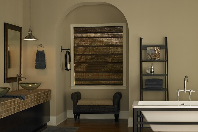 Bamboo Blinds traditional-bathroom