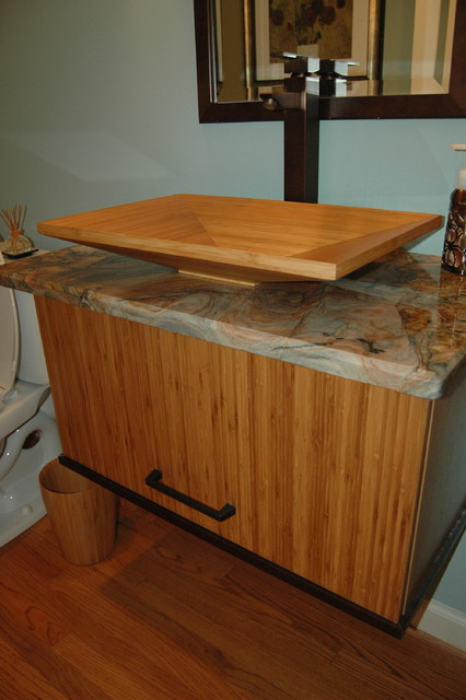 Bamboo sink vanity for Bamboo kitchen cabinets australia
