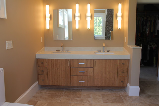 Bamboo Vanity Contemporary Bathroom