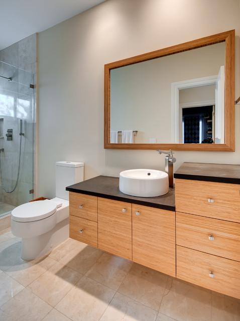 Bamboo Vanity Contemporary Bathroom Miami By