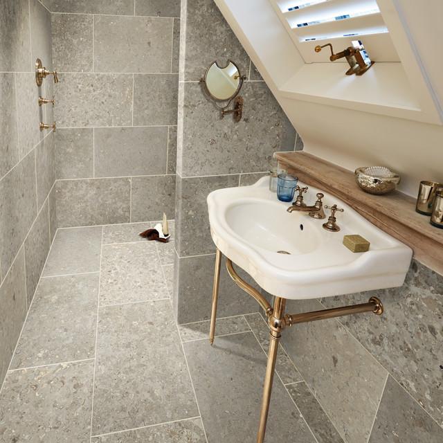 Bathroom Floor Bowing : Barancos blue contemporary bathroom other by