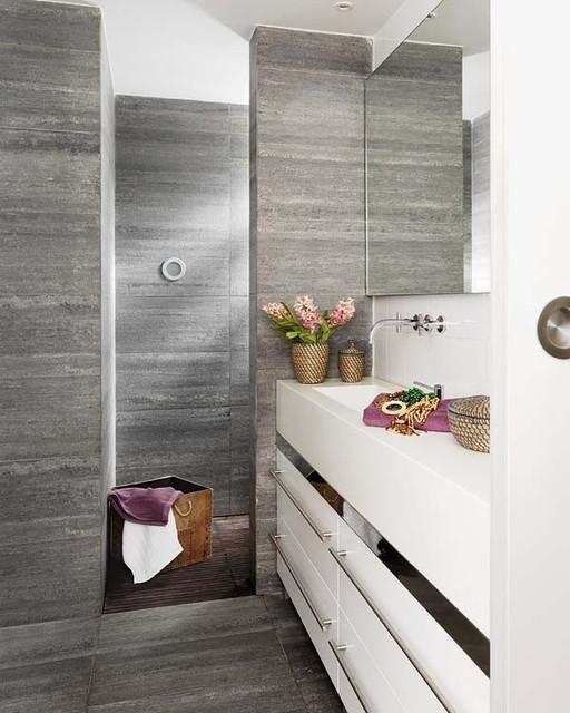Barcelona Loft Modern Bathroom London By Vuong Interior Design