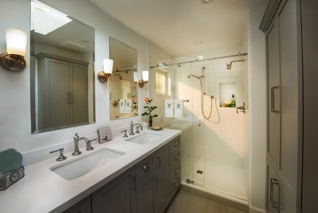Barn Door Beauty bathroom