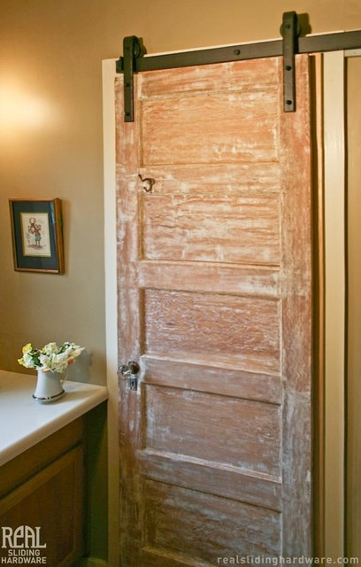 Charmant Barn Door Hardware Rustic Bathroom