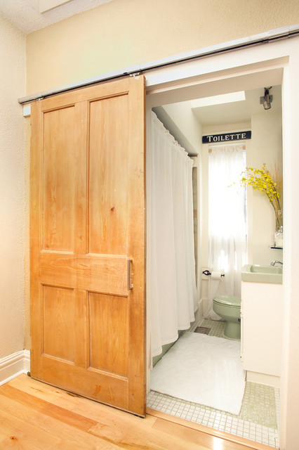 barn doors traditional bathroom toronto by arnal photography. Black Bedroom Furniture Sets. Home Design Ideas