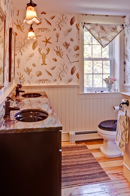 Barn To A Home Modern Farmhouse Traditional Bathroom Portland Maine By Maine Coast