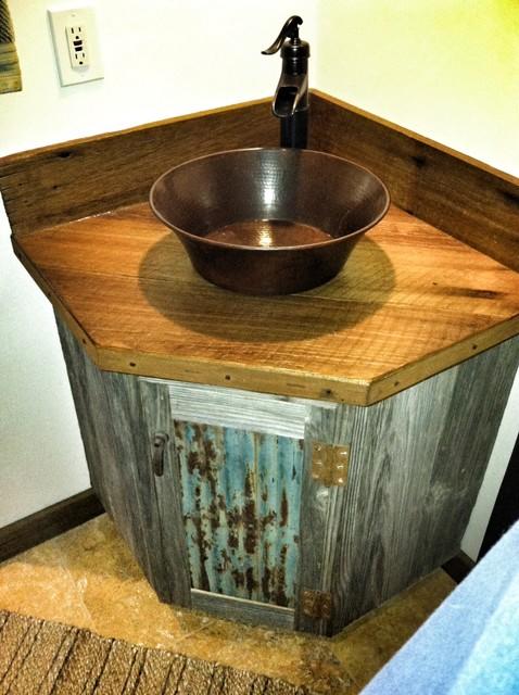 Barn Wood Vanity Rustic Bathroom