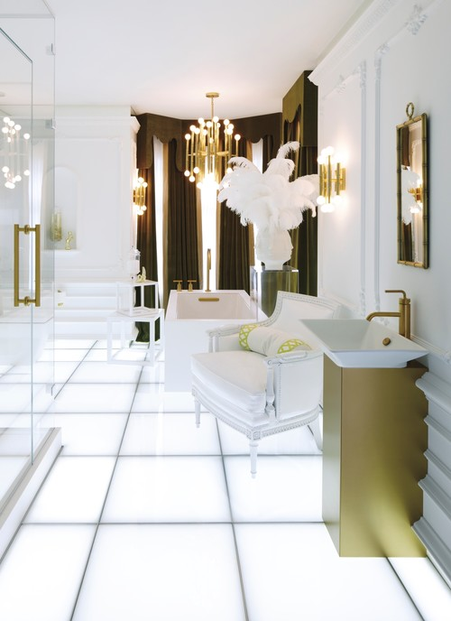 Looks we love brass is back design matters by lumens for Modern bathroom looks