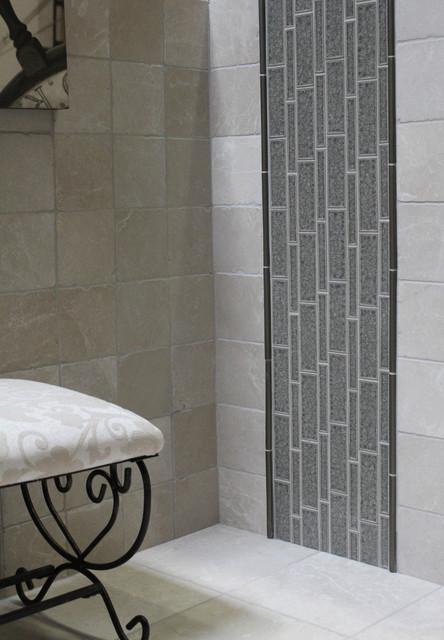 Barossa Valley Glass Smoke Transitional Bathroom