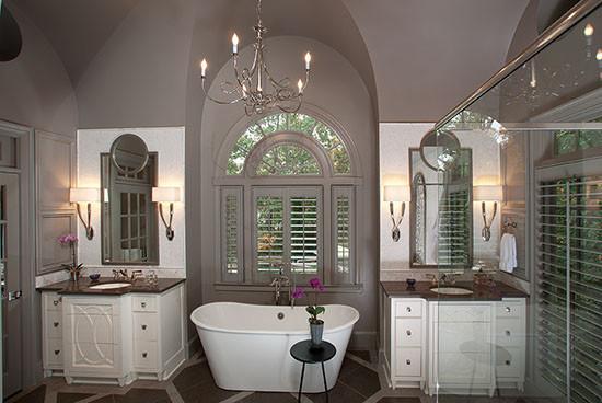 Barrel Vaulted Ceiling In Master Bathroom Modern