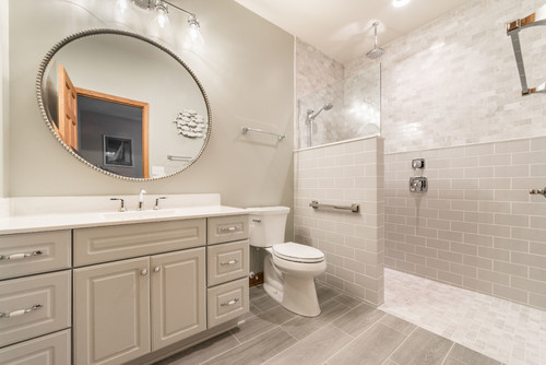 Transitional Bathroom Remodel in Fox Valley IL