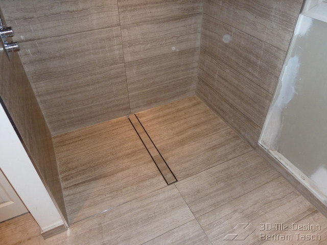 Barrier Free / Curbless Rain-Shower - Coquittlam modern-bathroom