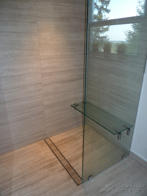 Barrier Free / Curbless Rain-Shower - Coquittlam - Contemporary - Bathroom - Vancouver - by 3D ...