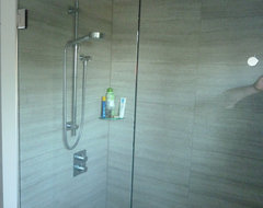 Barrier Free / Curbless Rain-Shower - Coquittlam contemporary bathroom