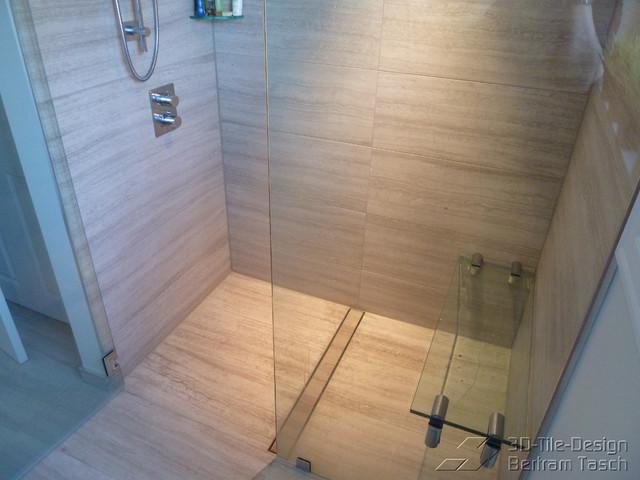 Barrier Free / Curbless Rain-Shower - Coquittlam contemporary-bathroom
