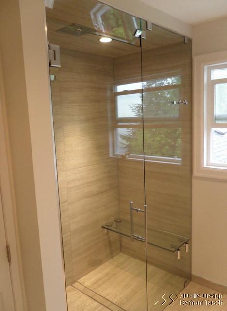 Barrier Free / Curbless Rain Shower   Coquittlam Modern Bathroom