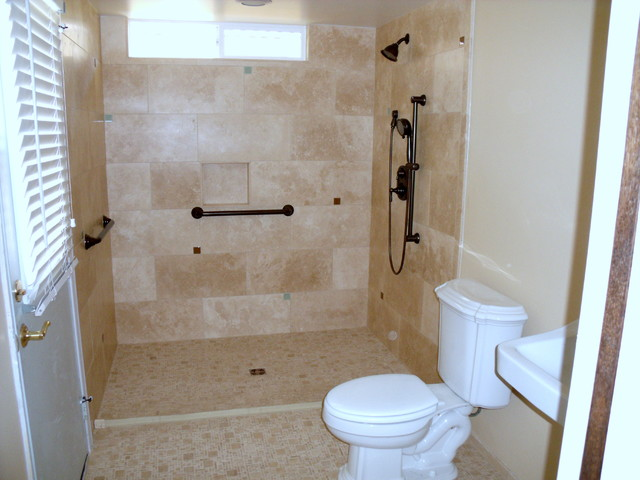 Barrier Free Roll In Accessible Shower Traditional