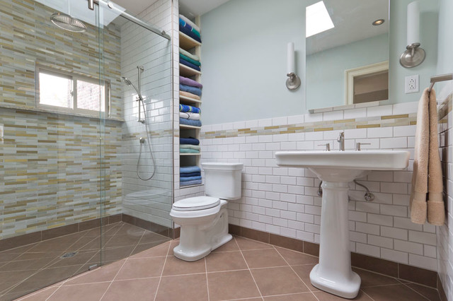 Barrier Free Shower Stall Traditional Bathroom New York By
