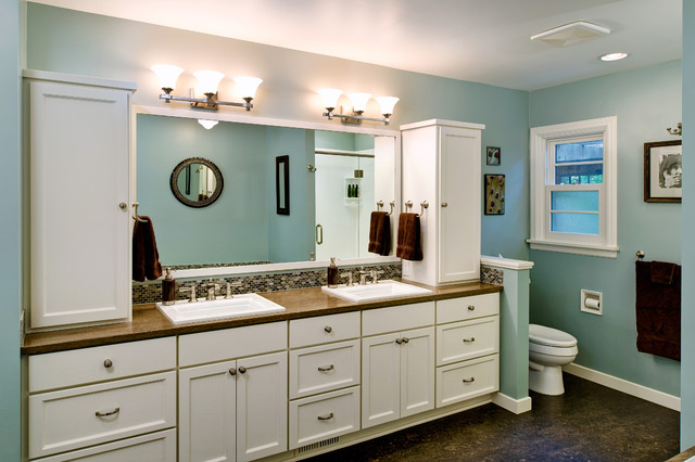 Traditional Bathroom Remodel basement & master bathroom remodel - traditional - bathroom