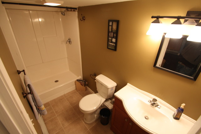 Basement bathroom bathroom boston by almar building and remodeling for Putting a bathroom in a basement