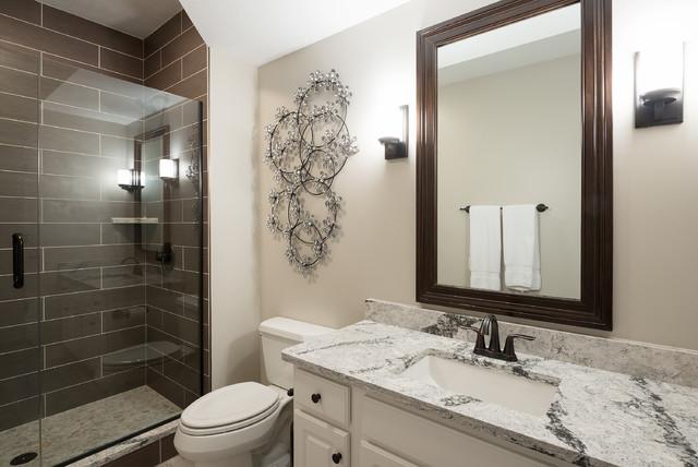 Basement Bathroom Modern Bathroom Indianapolis By Case Design Remodeling Indy