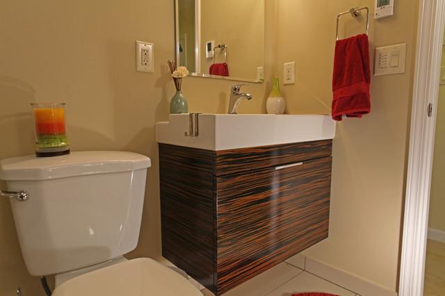 Basement bathroom remodeling contemporary-bathroom