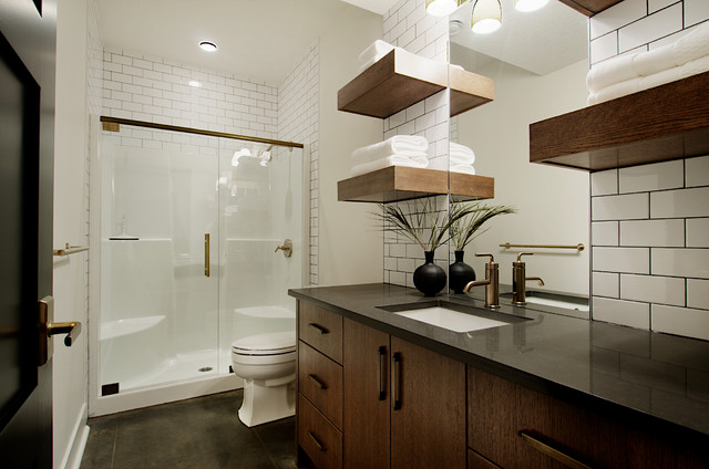Basement Bathroom Contemporary Bathroom Calgary By Veranda Estate Homes Interiors