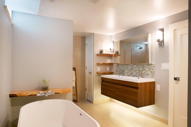 Basement Master Suite Contemporary Bathroom Portland