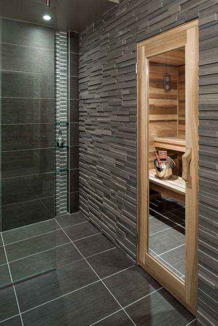 Basement Spa Bath and Sauna - Contemporary - Bathroom ...