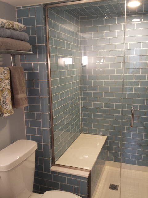 Attractive Basement Steam Shower Custom Tile Contemporary Bathroom