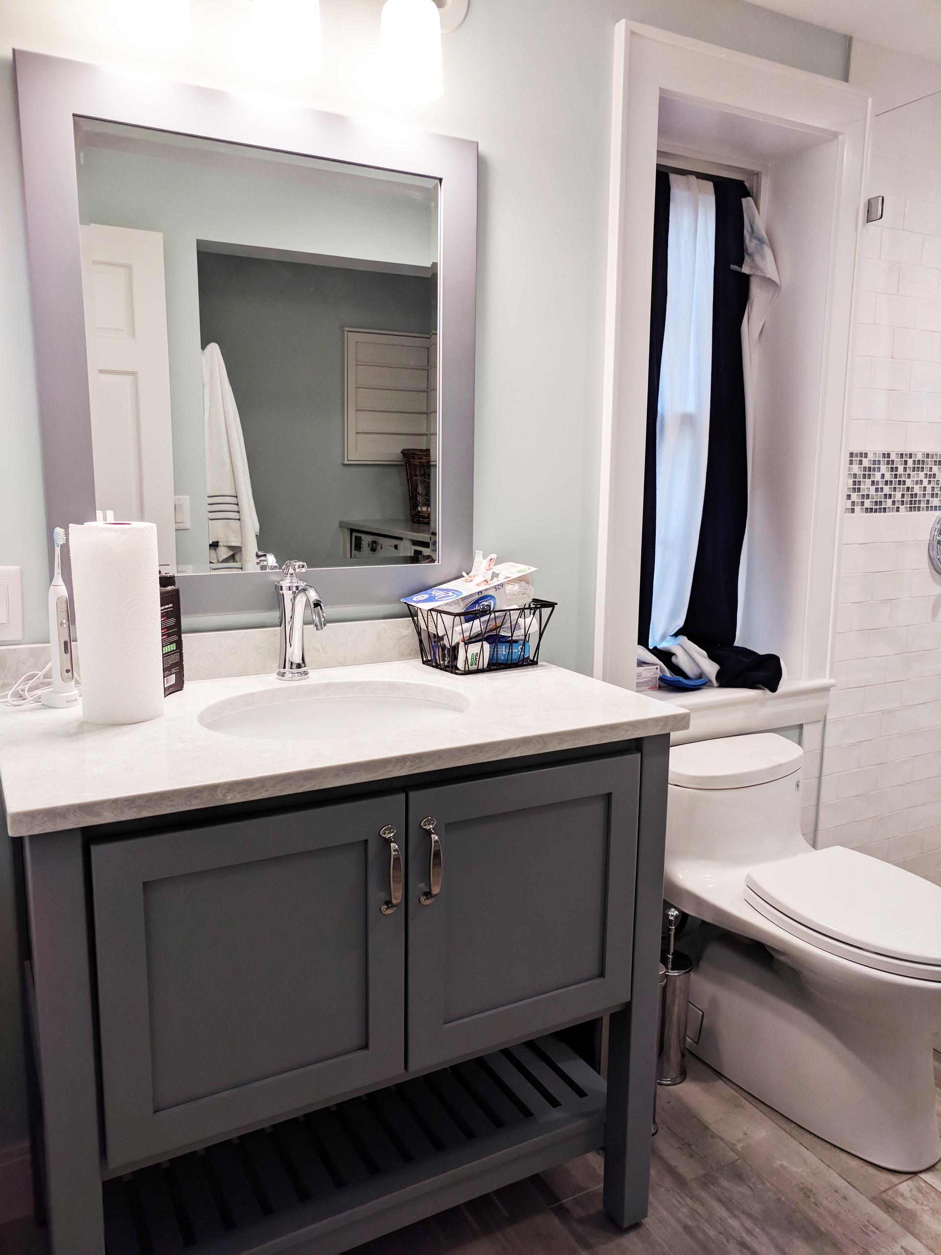 Basement vanity