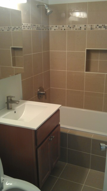 Basic Bathroom Remodel Contemporary Bathroom Chicago By 123 Remodeling Inc