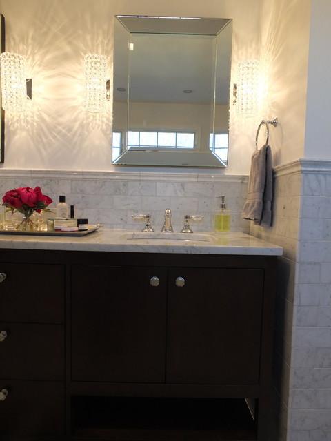 Basking Ridge All Carerra Master Bath Traditional Bathroom New York By Designed By Krystle
