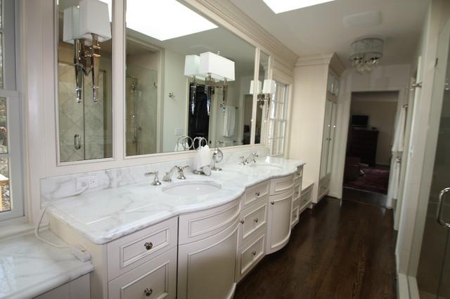 Bath & Living Room Remodel in Bethesda traditional-bathroom