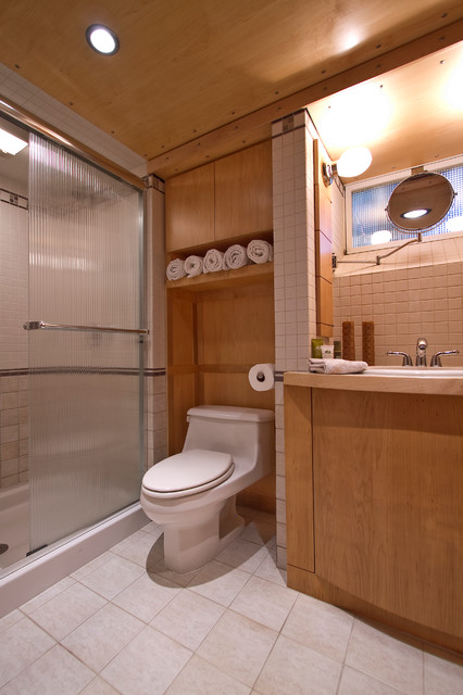 Bath at Lower Level contemporary-bathroom