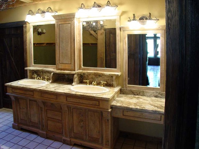 Bath Cabinets Barn Style Traditional Bathroom New York By Campbell 39 S Residential