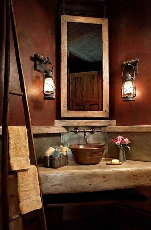 Western Bathroom Decorating Ideas Part - 16: Delightful Western Bathroom Decorating Ideas Western Warmth The Rustic  Bathroom