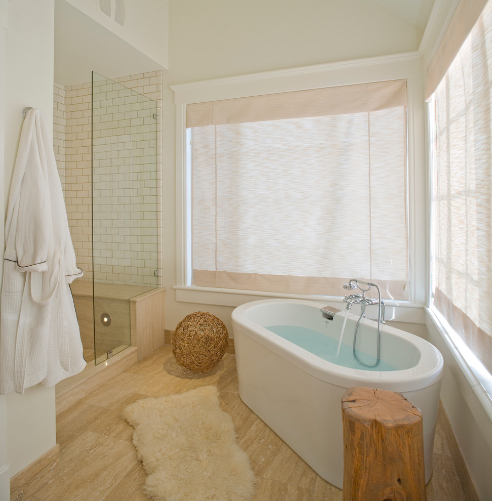 Inspiration for a contemporary freestanding bathtub remodel in Salt Lake City