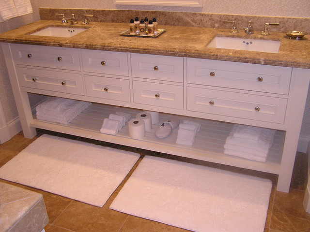 Bath painted cabinet - Traditional - Bathroom - los angeles - by Cabinet Creations of Sun Valley