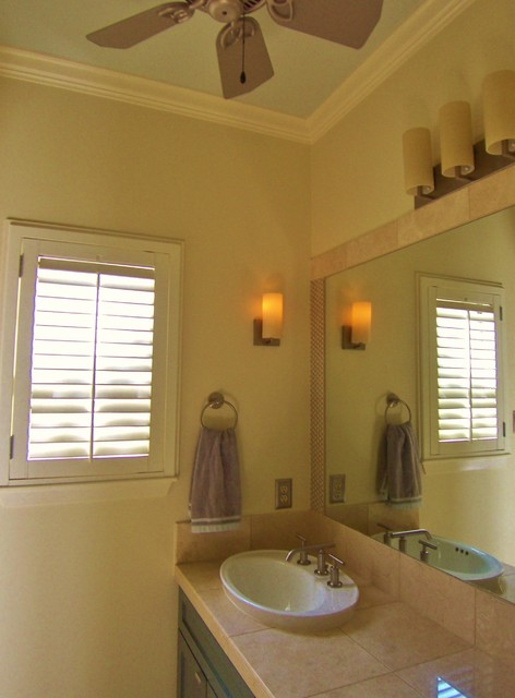 Bath Petite Ceiling Fan Sconce Vanity Fixtures Are Kohler Traditional Bathroom Other Metro