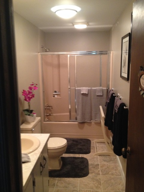 bath projects before and afters transitional bathroom