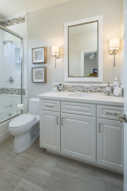 Bath remodel transitional bathroom orange county for Bath remodel orange county