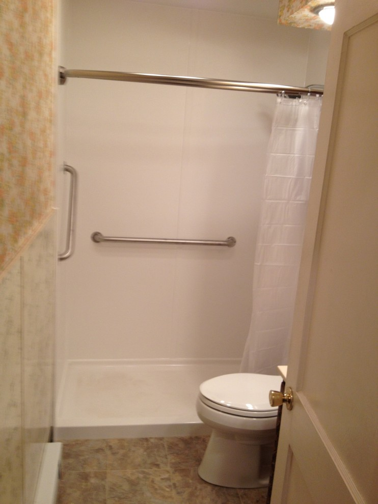 Bath-Remove tub install ADA shower - Traditional ...