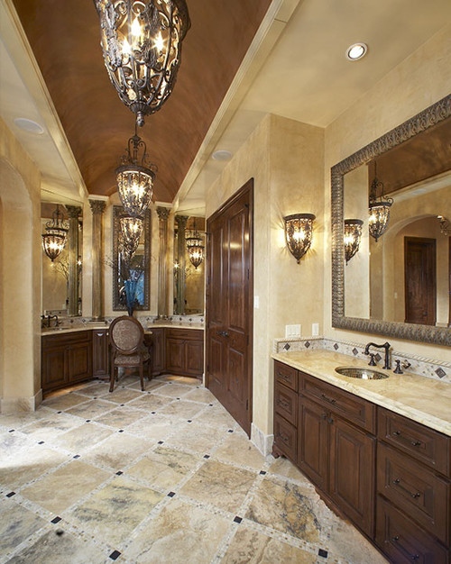 Love This Bathroom...is The Finish In The Barrel Ceiling Faux Or A Metallic  Paint? Color U0026 Paint Brand? Thanks