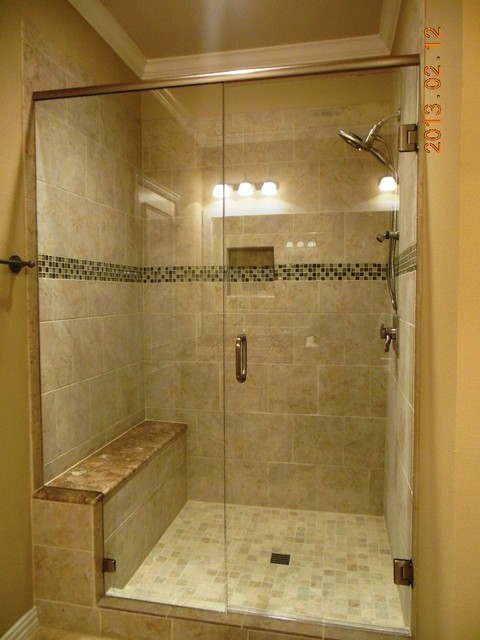 Exceptionnel Bath Tub Conversion To Shower Enclosure Traditional Bathroom