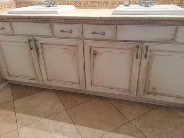 Bath vanity reface. rustic-bathroom - Bath Vanity Reface. - Rustic - Bathroom - Phoenix - By Mia Silverman